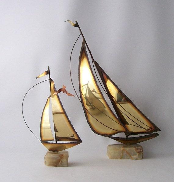 Vintage Mario Jason Sail Boat Ships Nautical Home Decor Cut