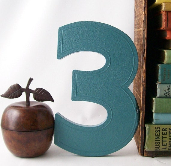 Number 3 vintage marquee sign retro wall hanging home decor for Number 3 decorations