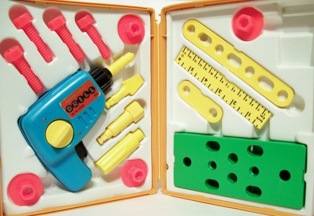 1977 Fisher Price Tool Kit No 924 With By Recyclebuyvintage