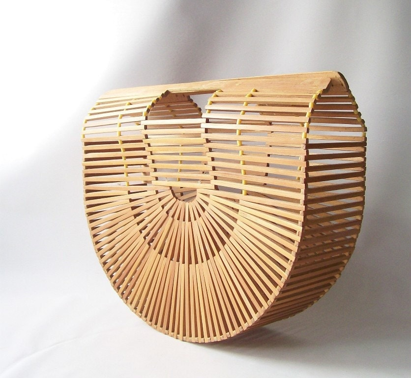vintage bamboo purse