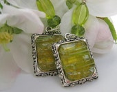 Stained Glass Mosaic Melon Earrings