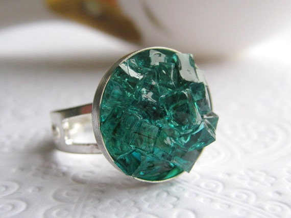 Stained Glass Caribbean Ring