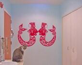 Mermaids - vinyl wall art decal sticker cling