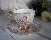 Vintage Shelley Tea Cup and Saucer Maytime Chintz, On Sale