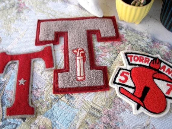 """Vintage Letterman's Letter """"T"""" 1957 Torrance...Old School, ON SALE"""