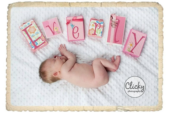 Custom Wooden NAME Blocks - Personalized for Photos, Birthdays, Baby Showers and Room Decor