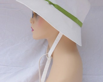REDUCED White Summer Hat With Small Brim