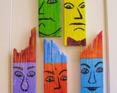 Men of Color Series, Yellow Dude on Reclaimed Fence Board