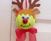Custom Order for Christina 21 Christmas Reindeer Ornaments Tennis Balls (Girl)