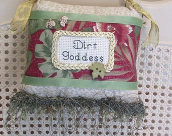 Dirt Goddess Boutique Pillow Handmade From Fabric Scraps