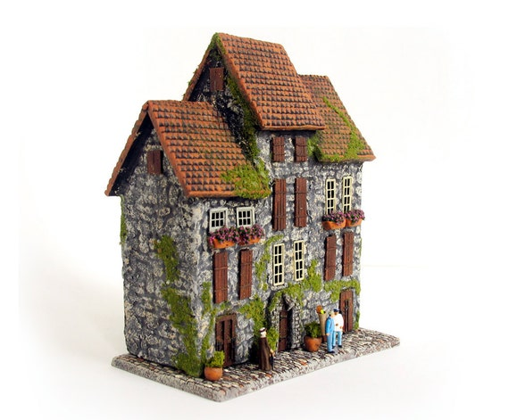 The Medieval Stone Row House Trio Of Miniature Houses With