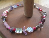Playful Pink Girly Anklet
