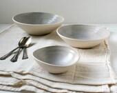 Reserved Listing Lavender Stoneware Nesting Bowl Set