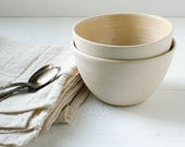 Sale Two Cashew Stoneware Bowls