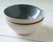 Two Slate Stoneware Bowls