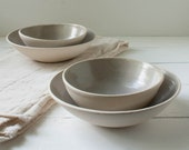 Lavender Gray Stoneware Bowl Set of Four