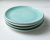 Storewide Sale Two Aqua Dessert Plates
