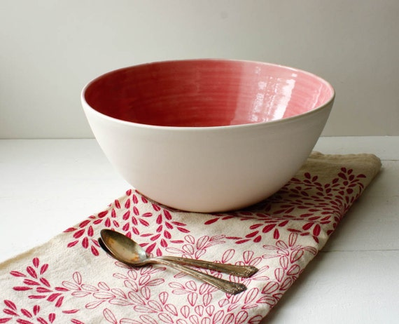Sale Strawberry Pink Salad Bowl