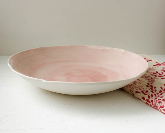 Sale Pale Pink Shell Large Serving Bowl