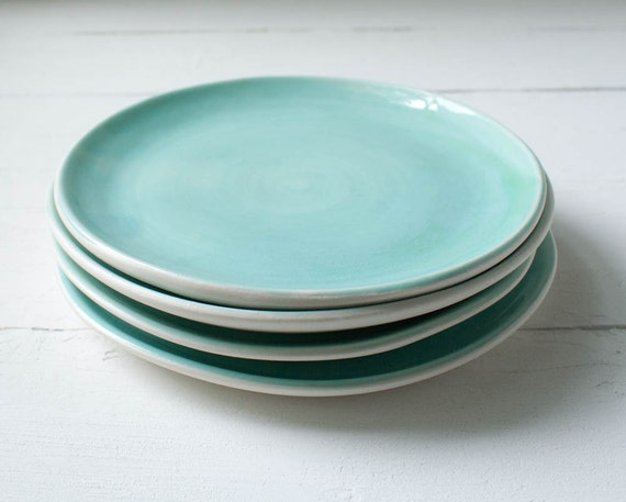 Storewide Sale Two Aqua Dessert Plates