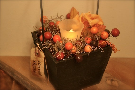 Thanksgiving Candle Box Centerpiece