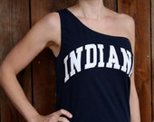 Indiana IU Hoosiers Game Day One Shoulder Top - Size Small