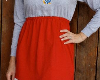 SALE University of Kansas KU Jayhawks Game Day Long Sleeve Dress - Size Small