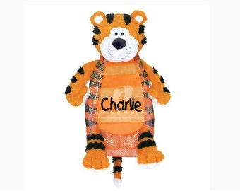 CLEARANCE Tiger Plush Back Pack or Diaper Bag - Includes FREE Personalization - Same Day Shipping