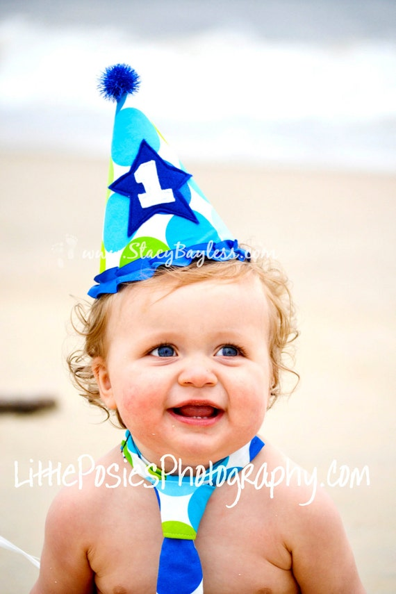 Party Hat Choose CUSTOM Colors - Cake Smash Birthday