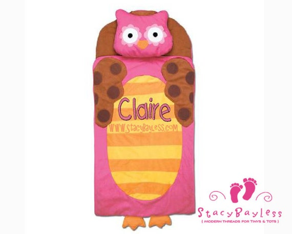 Owl Nap Mat INCLUDES Personalization - Same Day Shipping