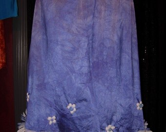 SALE  blue and white vintage slipskirt
