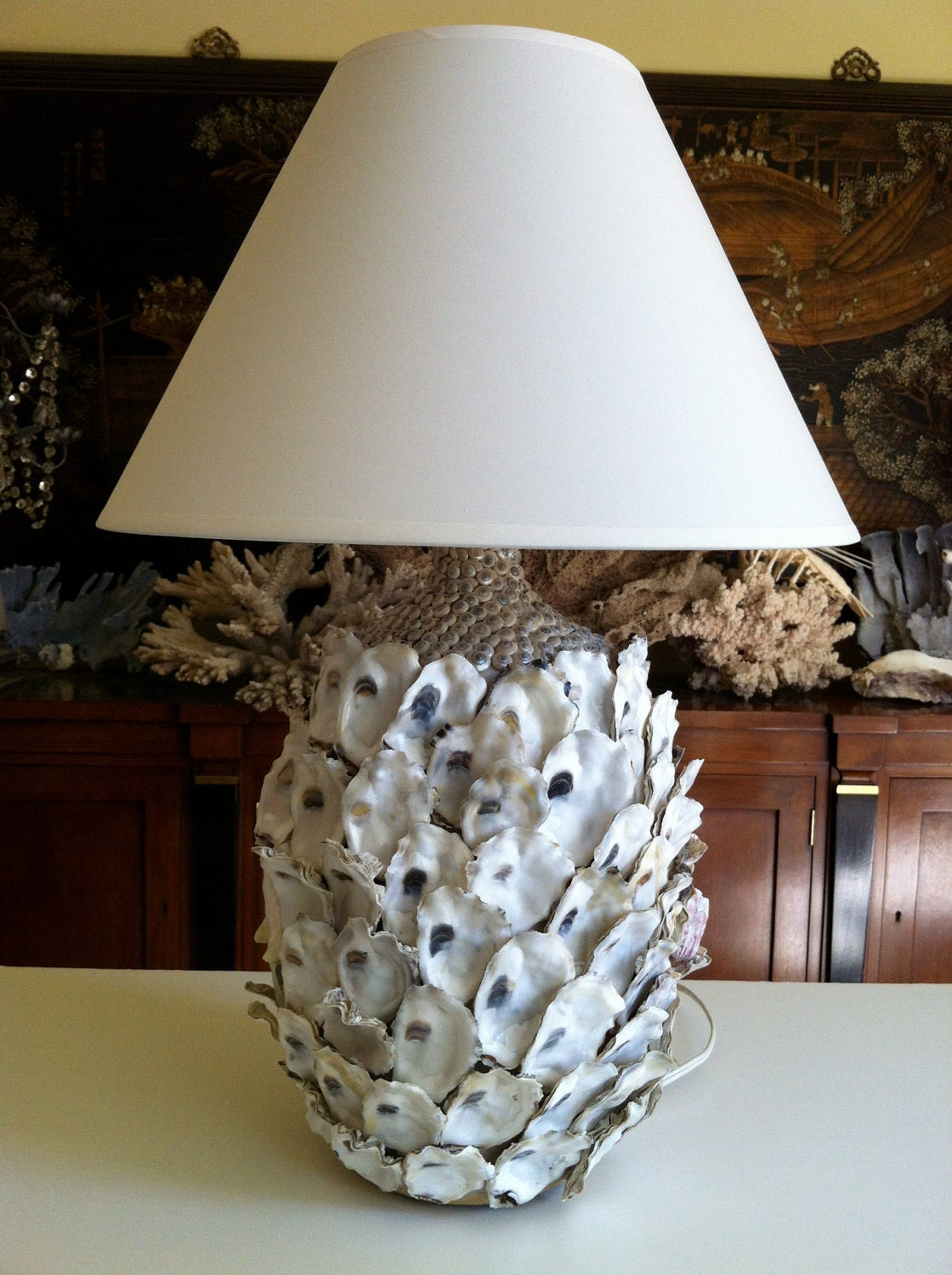 Oyster Shell Table Lamp