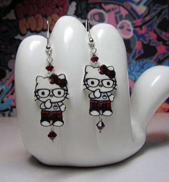 Hello Kitty Nerd Dangle Earrings
