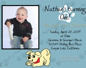Puppy Birthday Invitation Dog Birthday Invite Puppy Theme Invitation Puppy Party Invite Custom Invitation Printable Invitation Puppy Invite