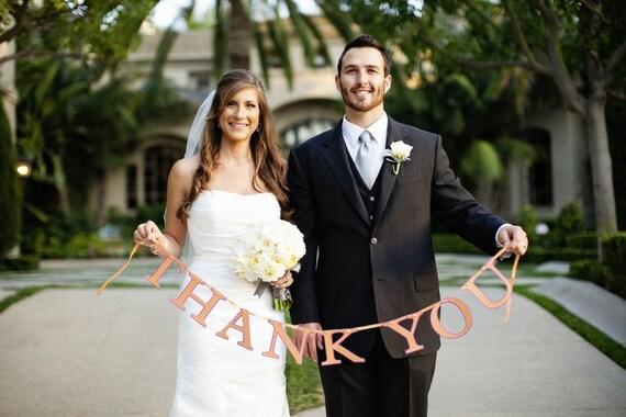 Custom Thank You banner- great for wedding photos