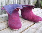 Ladies felted wool slipper boots