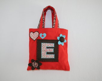 Bag - Mini Shopper - Colour: Hot tomato letter E