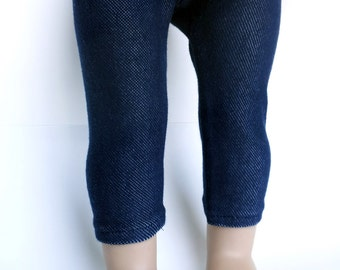Denim leggings for 18 inch dolls such as American Girl