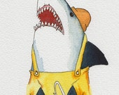 Shark Fisherman - PRINT 8.5x11