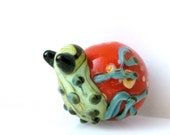 Destash Sale... Huggy the Frog Lampwork Glass Round Bead Pick your Color - Package of 2