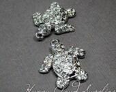 Bling Bling Baby Turtle Rhinestone Charms... 2pcs