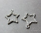Bling Bling Star Rhinestone Charms... 2pcs