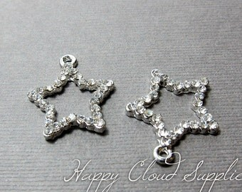 Bling Bling Star Rhinestone Charms... 2pcs