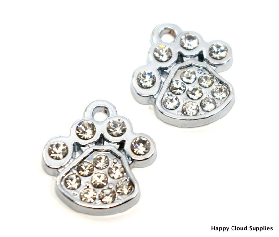 Little Paws Rhinestone Charms - Package of 7