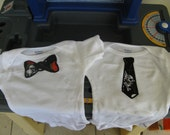 Bad to The Bones Tie Onesie with Matching Shoes
