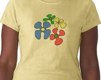 70s T-Shirt - Graphic Tee - Womens Short Sleeve Cotton Tee - Yellow