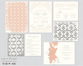 Destination Wedding Invitations - Wedding Maps/Wedding Invite/RSVPs/All in one