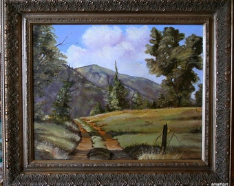 """Original 16 x 20 Oil Painting- """"Berkshire Country Road"""" Free Shipping"""