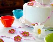 Party Decor Garland - Crochet Flowers