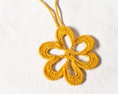 Boho Jewelry Yellow Crochet Necklace Summer Fashion